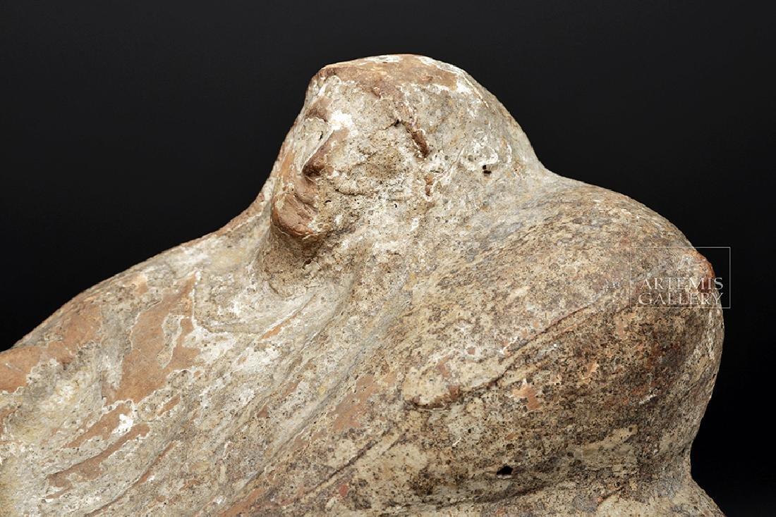 Etruscan Terracotta Cinerarium w/ Latin Inscription - 7