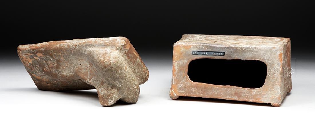 Etruscan Terracotta Cinerarium w/ Latin Inscription - 8