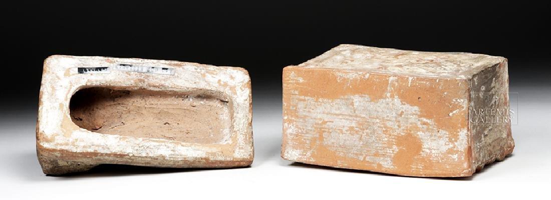Etruscan Terracotta Cinerarium w/ Latin Inscription - 9