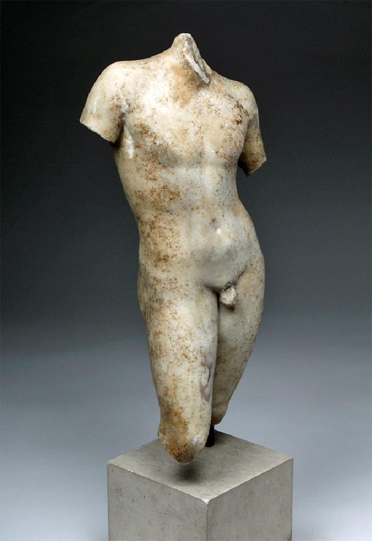 Superb Roman Marble of Nude Eros