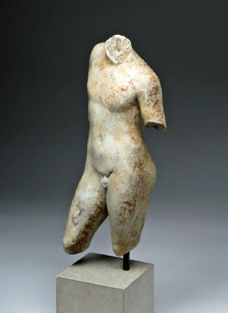 Superb Roman Marble of Nude Eros - 6