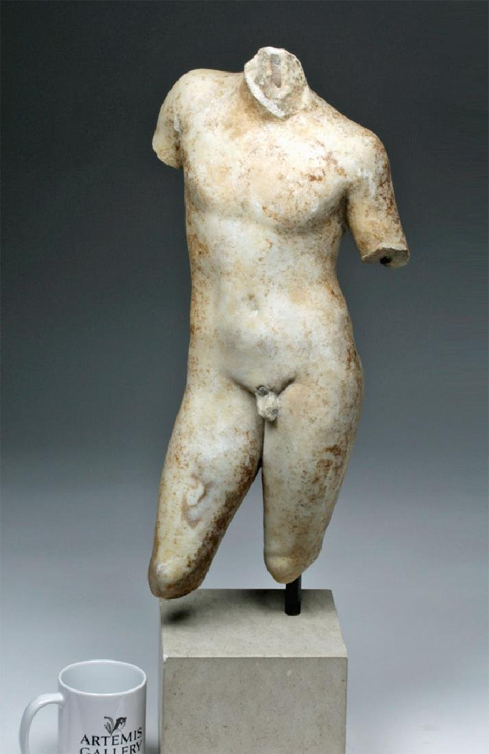Superb Roman Marble of Nude Eros - 7
