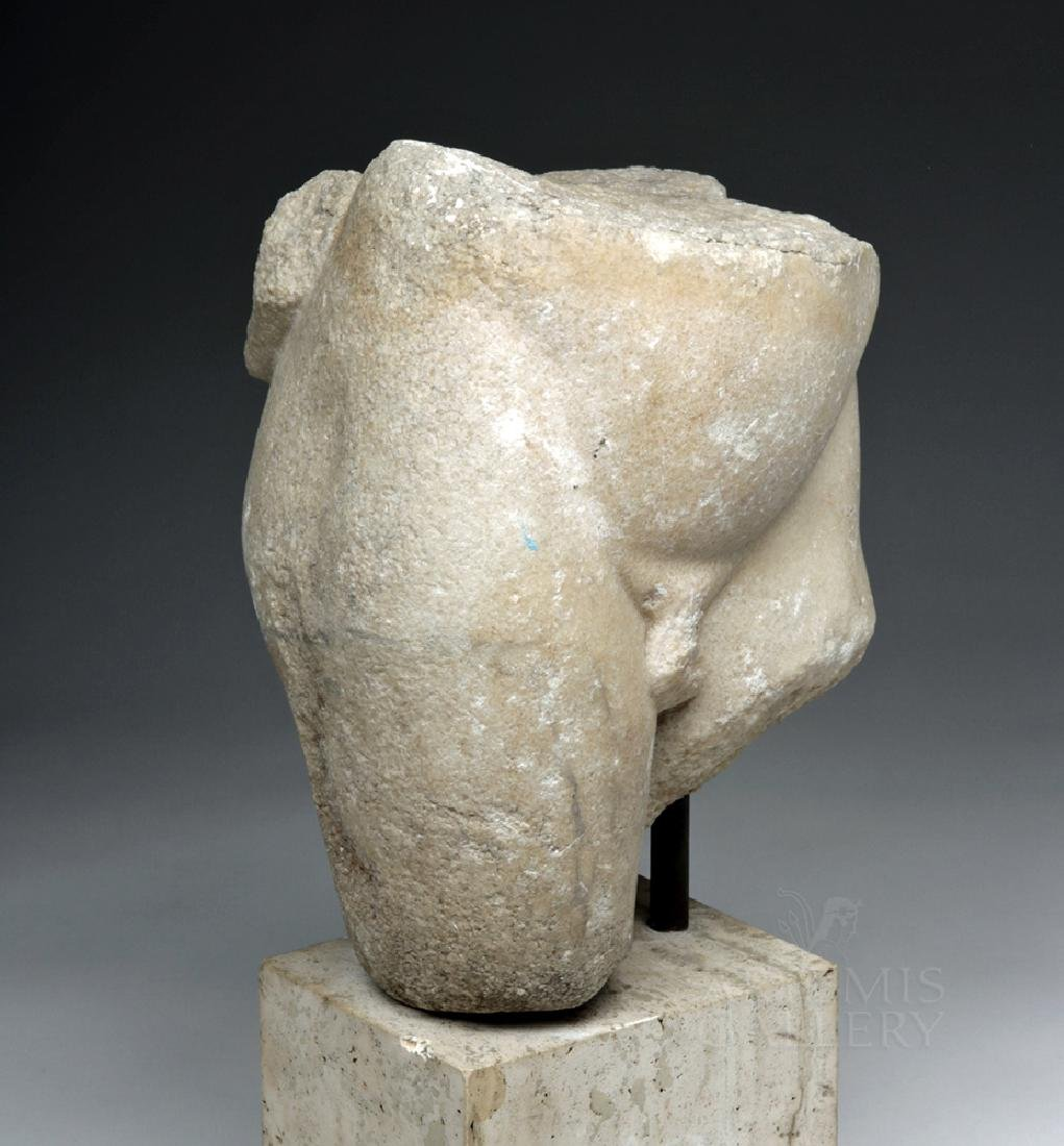 Fine Roman Marble Section of a Nude Youth - 2
