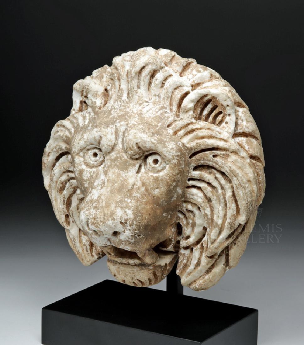Roman Marble Lion Head Fountain Ornament, ex Christie's