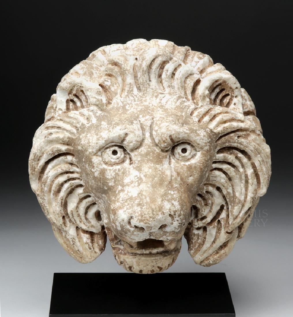 Roman Marble Lion Head Fountain Ornament, ex Christie's - 2