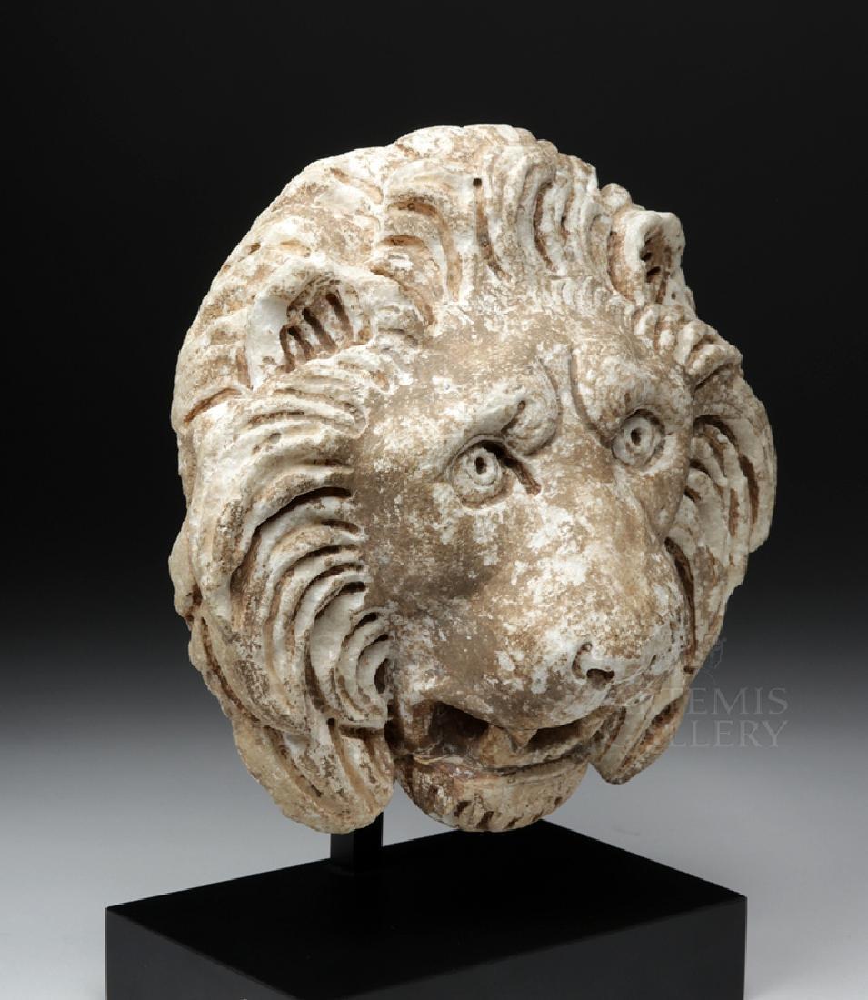 Roman Marble Lion Head Fountain Ornament, ex Christie's - 5