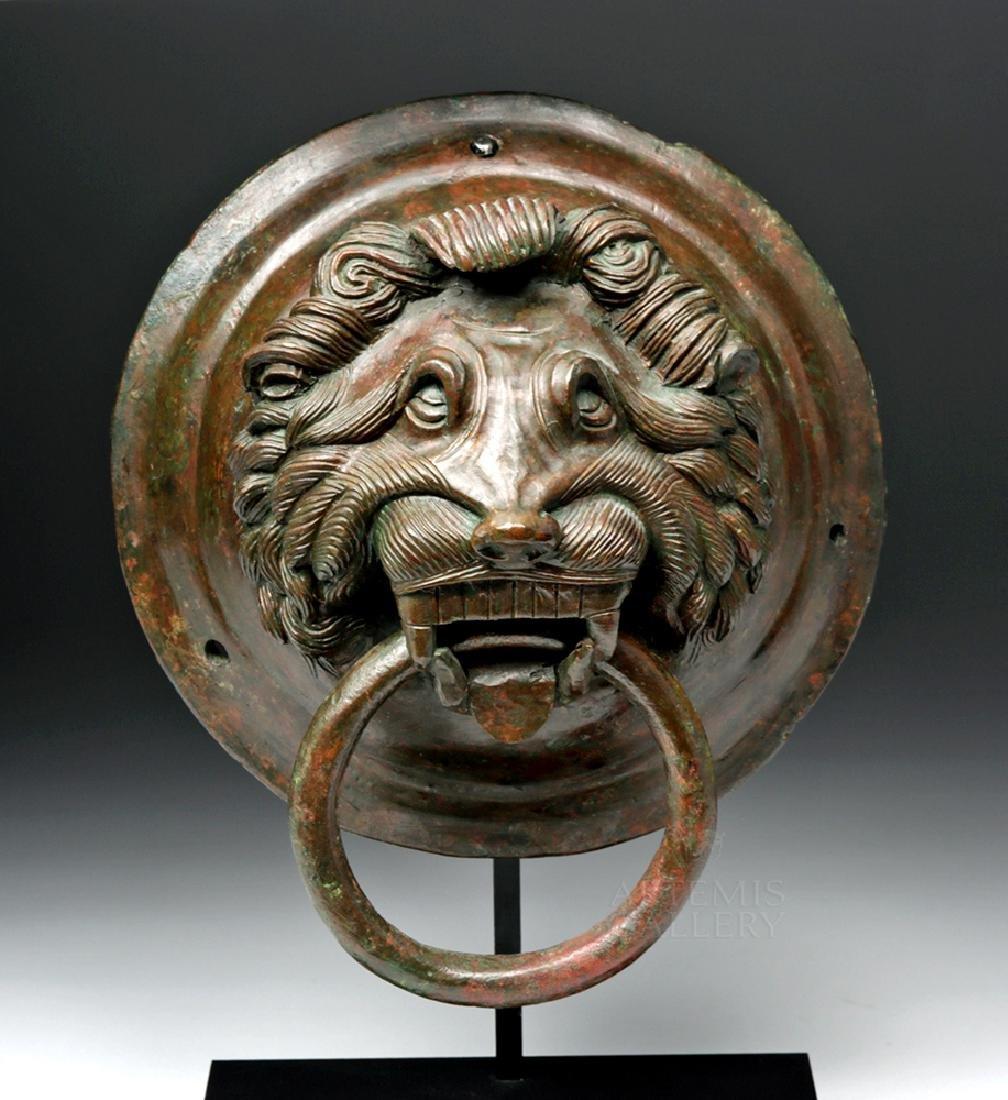 Roman / Byzantine Bronze Lion Knocker, ex-Sotheby's