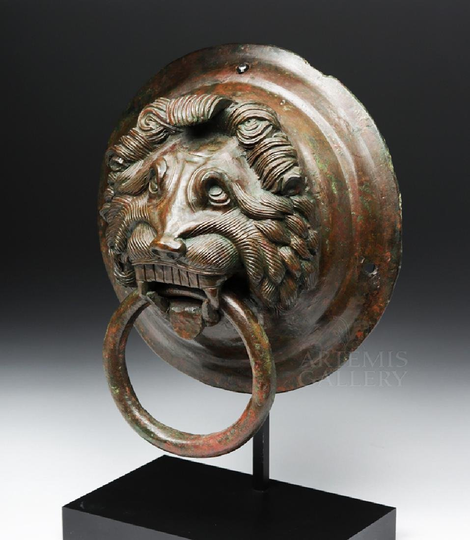 Roman / Byzantine Bronze Lion Knocker, ex-Sotheby's - 2