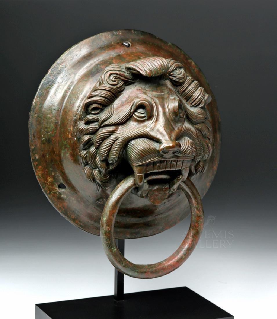 Roman / Byzantine Bronze Lion Knocker, ex-Sotheby's - 5