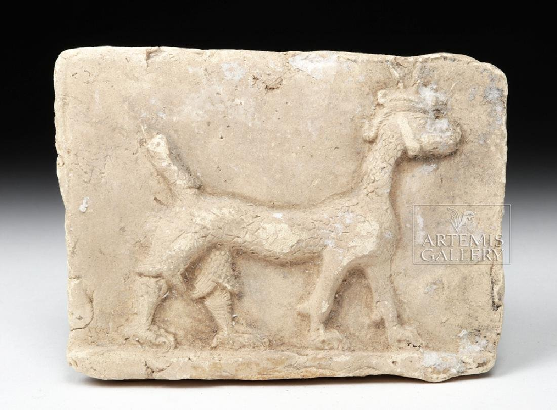 Babylonian Terracotta Plaque w/ Mushussu - TL