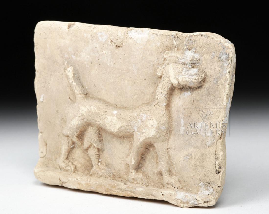 Babylonian Terracotta Plaque w/ Mushussu - TL - 2