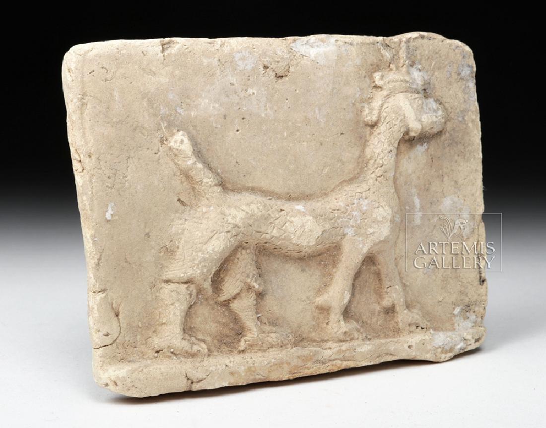 Babylonian Terracotta Plaque w/ Mushussu - TL - 3