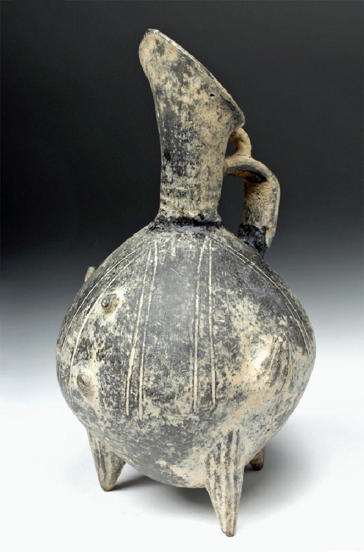 Anatolian / Yortan Blackware Tripod Pouring Jar w/ TL