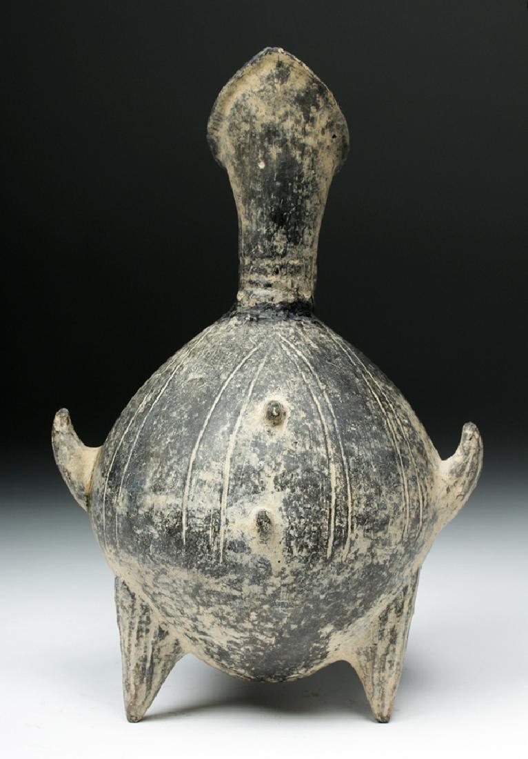 Anatolian / Yortan Blackware Tripod Pouring Jar w/ TL - 2