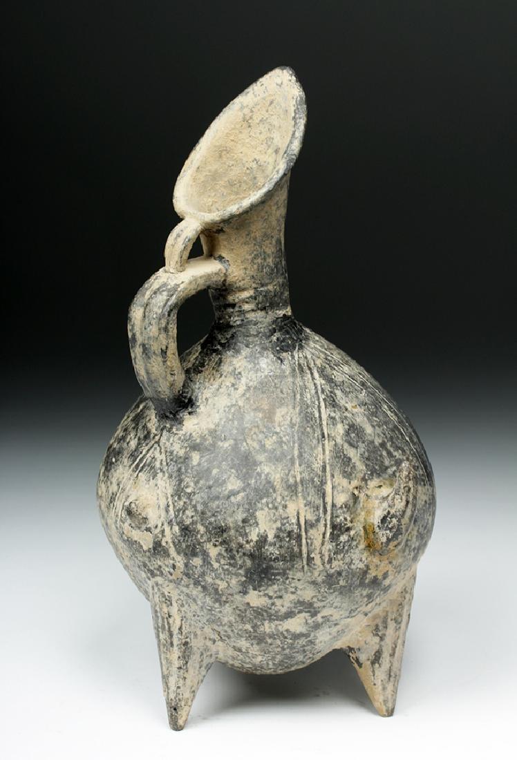Anatolian / Yortan Blackware Tripod Pouring Jar w/ TL - 4