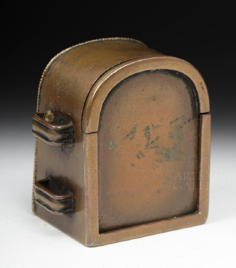 19th C. Tibetan Gilded Bronze & Coral Ghau Prayer Box - 3