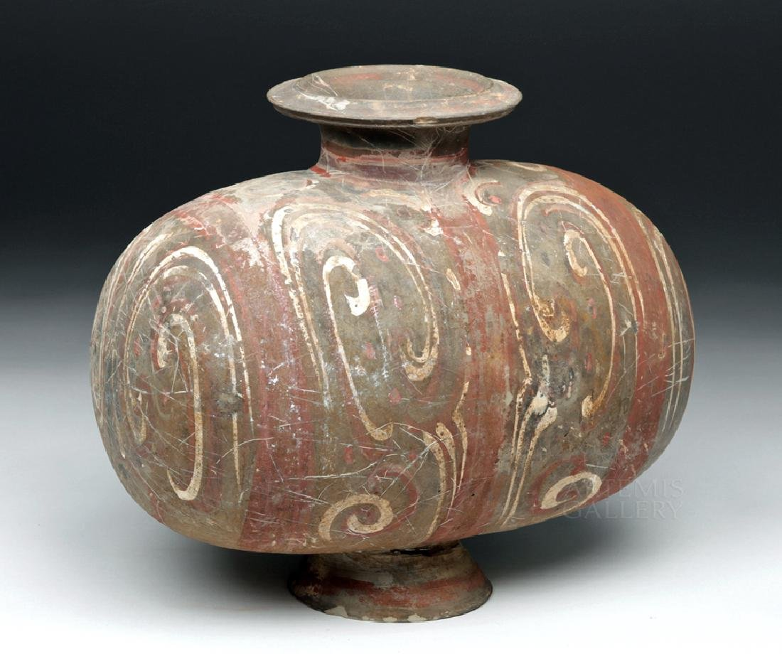 Chinese Han Dynasty Pottery Cocoon Vase