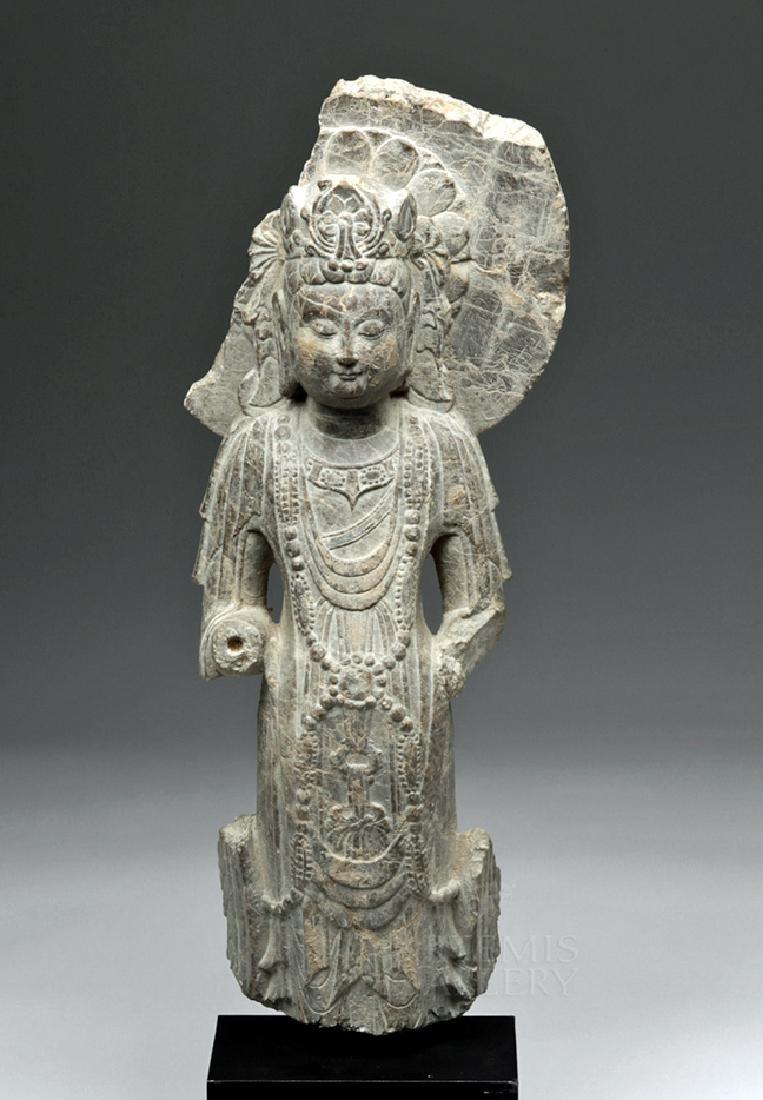 Chinese Wei / Qi Carved Stone Bodhisattva Guanyin