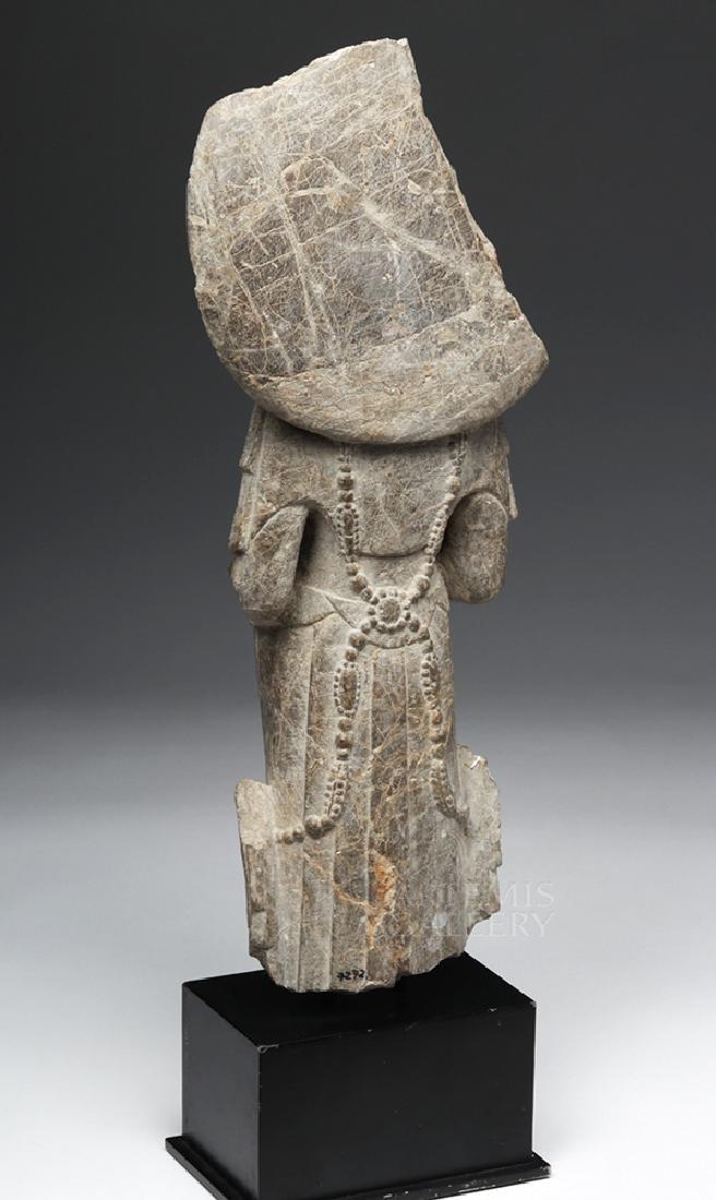Chinese Wei / Qi Carved Stone Bodhisattva Guanyin - 3