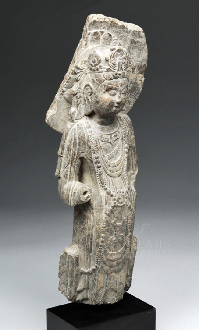 Chinese Wei / Qi Carved Stone Bodhisattva Guanyin - 5
