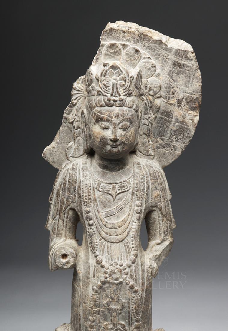 Chinese Wei / Qi Carved Stone Bodhisattva Guanyin - 6
