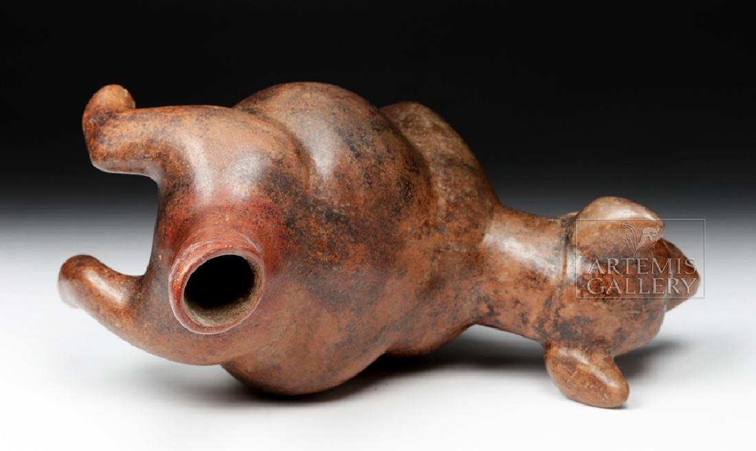 Adorable Colima Redware Dog - Museum Exhibited - 6