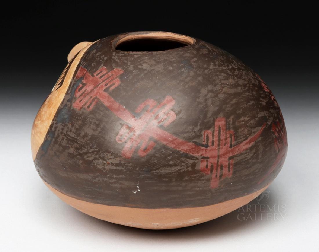 Choice Nazca Pottery Vessel - Anthropomorphic Head Form - 5