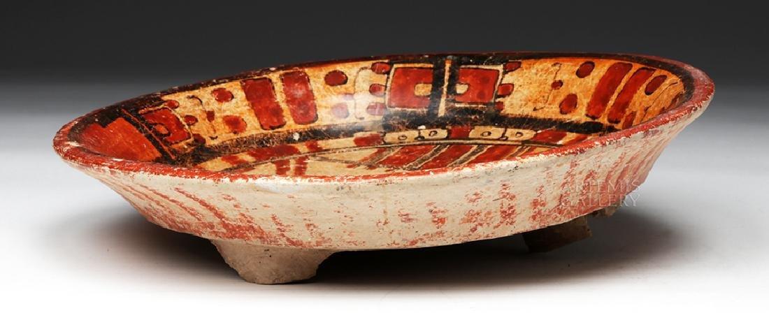 Wonderful Mayan Polychrome Plate - 4