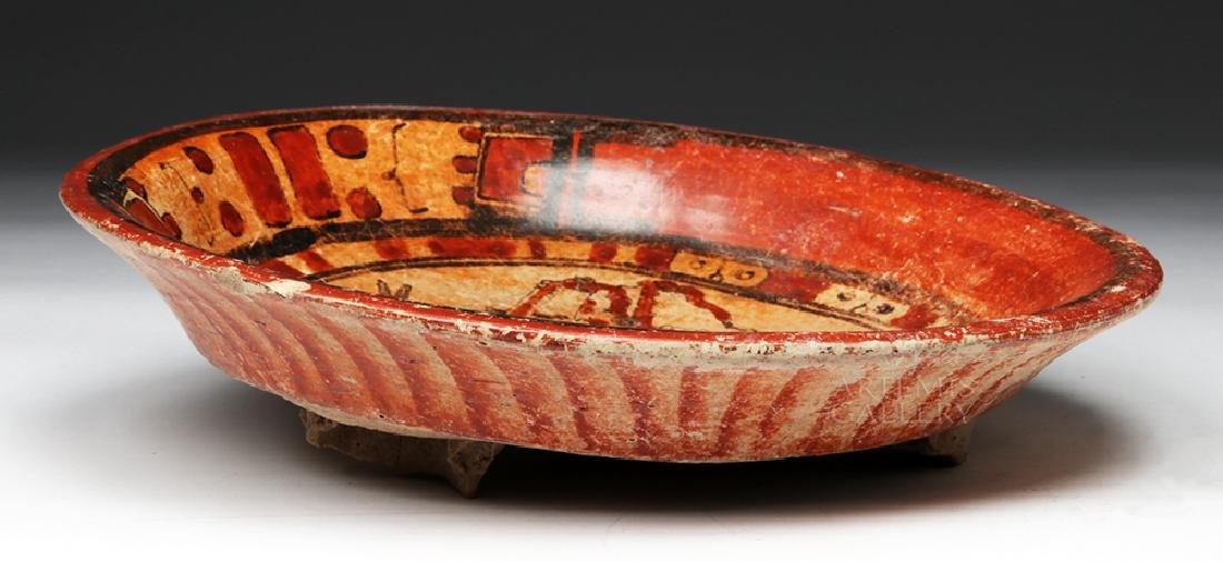 Wonderful Mayan Polychrome Plate - 5