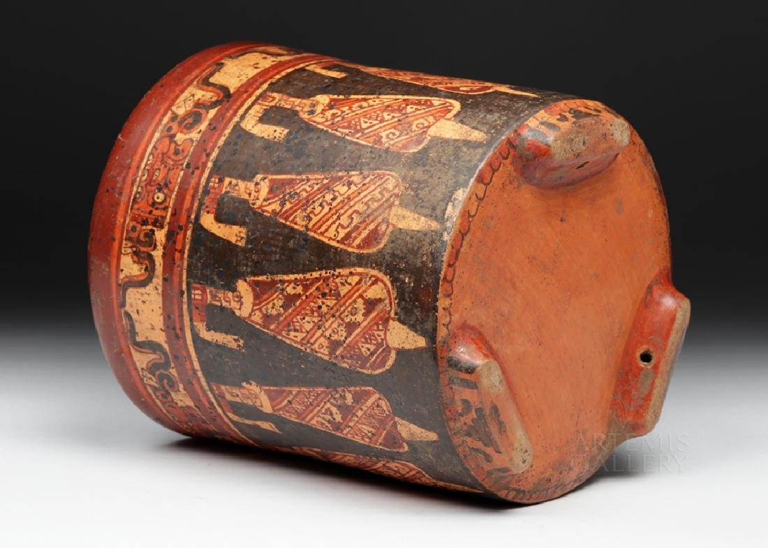 Large Mayan Polychrome Tripod Cylinder - 6