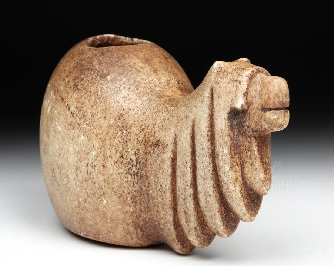 Large Incan Alabaster Canopa Votive - Camelid - 2