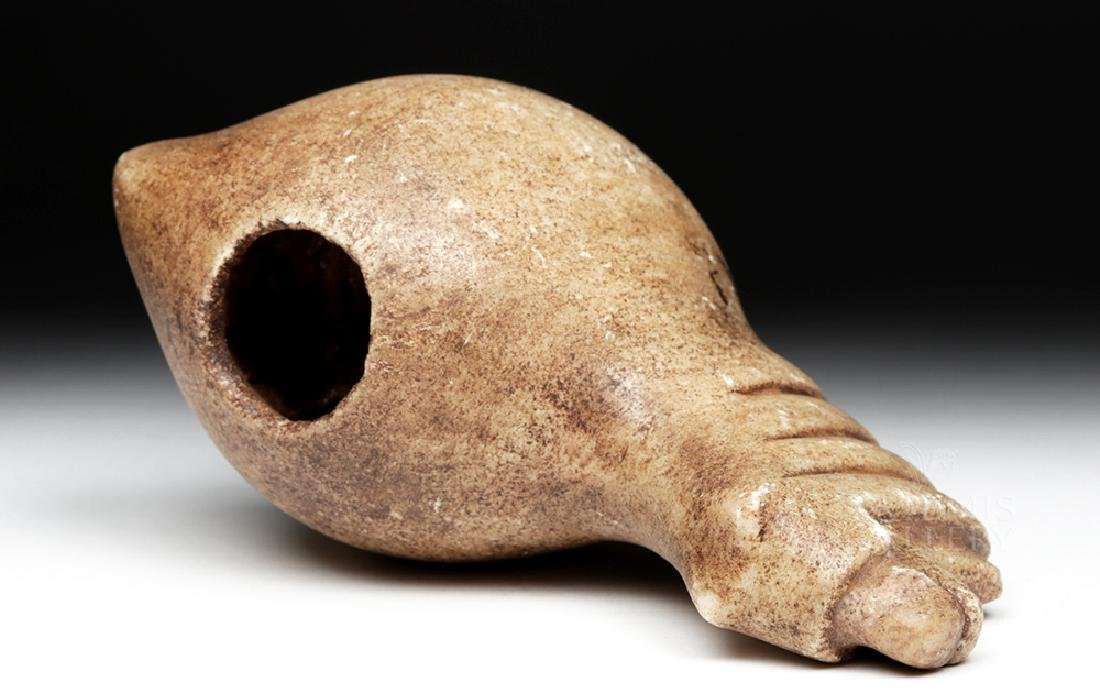 Large Incan Alabaster Canopa Votive - Camelid - 7