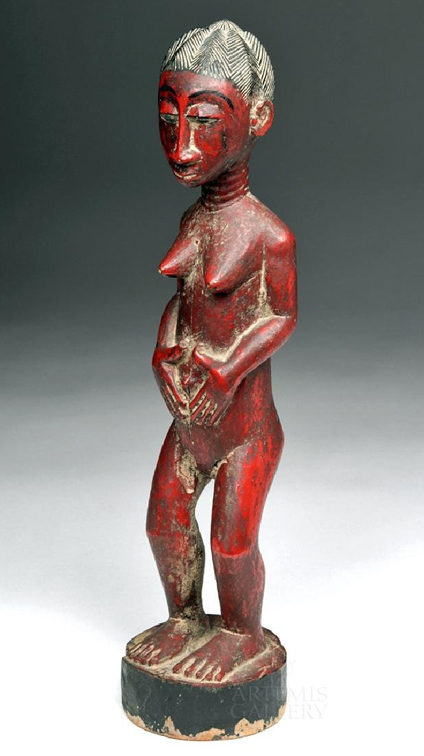 Early 20th C. Baule Wooden Female Ancestor Figure