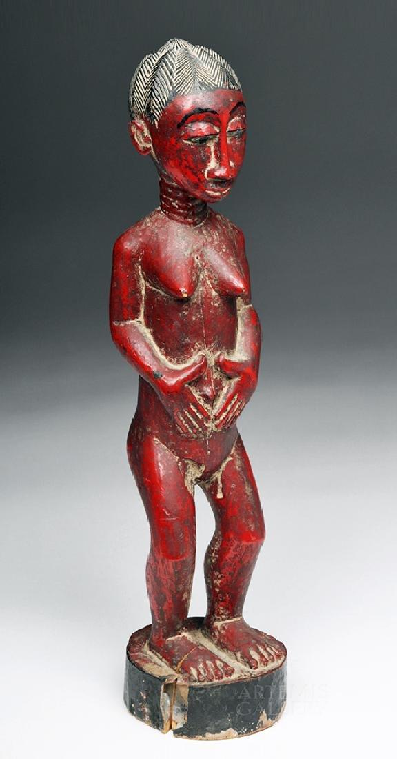 Early 20th C. Baule Wooden Female Ancestor Figure - 3