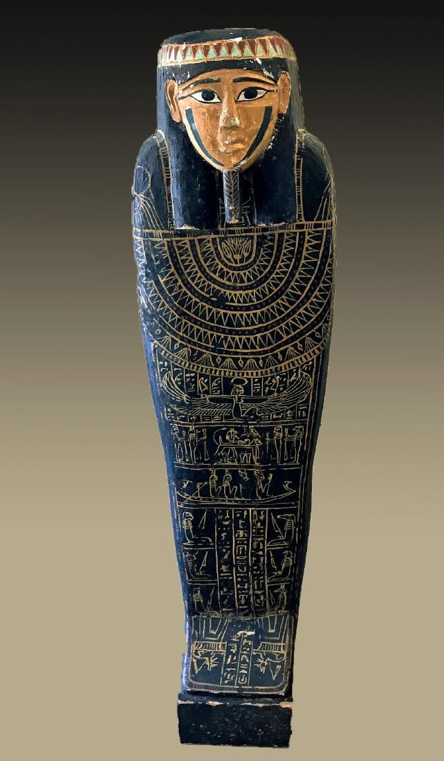 Egyptian Late / Ptolemaic Painted Wood Sarcophagus
