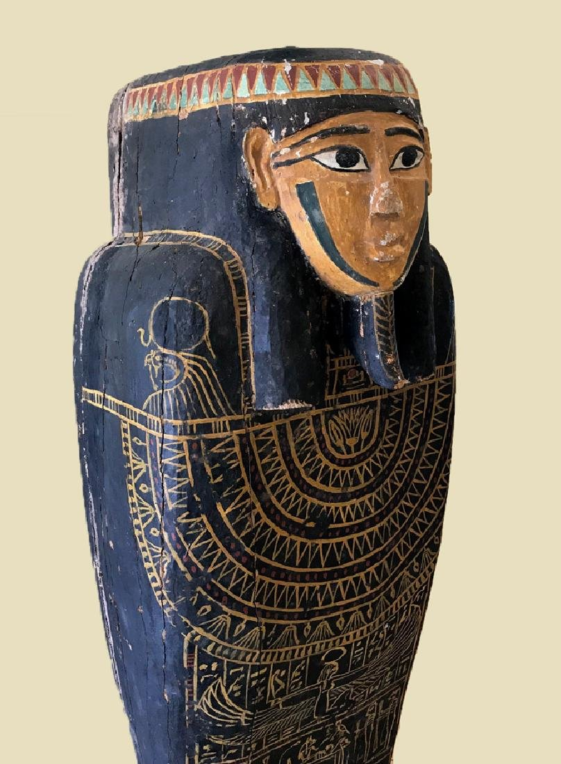 Egyptian Late / Ptolemaic Painted Wood Sarcophagus - 2