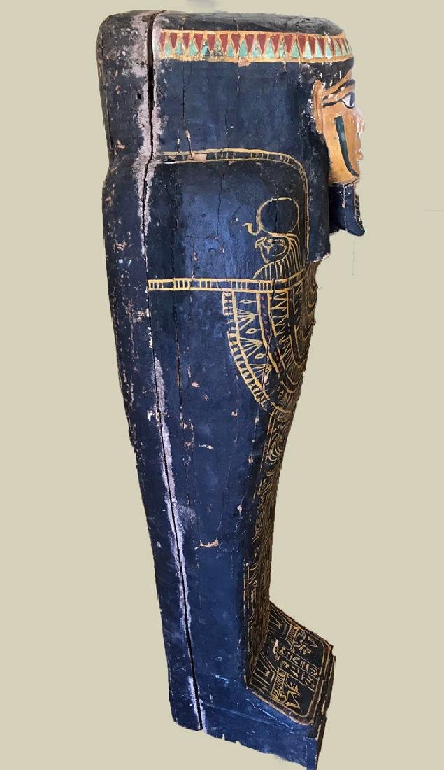 Egyptian Late / Ptolemaic Painted Wood Sarcophagus - 3