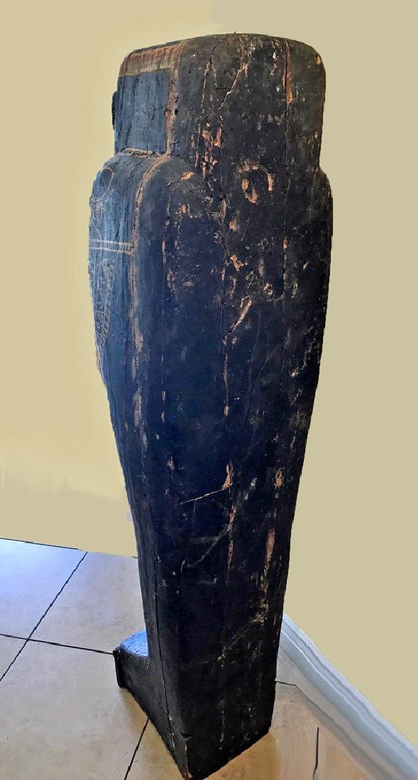 Egyptian Late / Ptolemaic Painted Wood Sarcophagus - 4