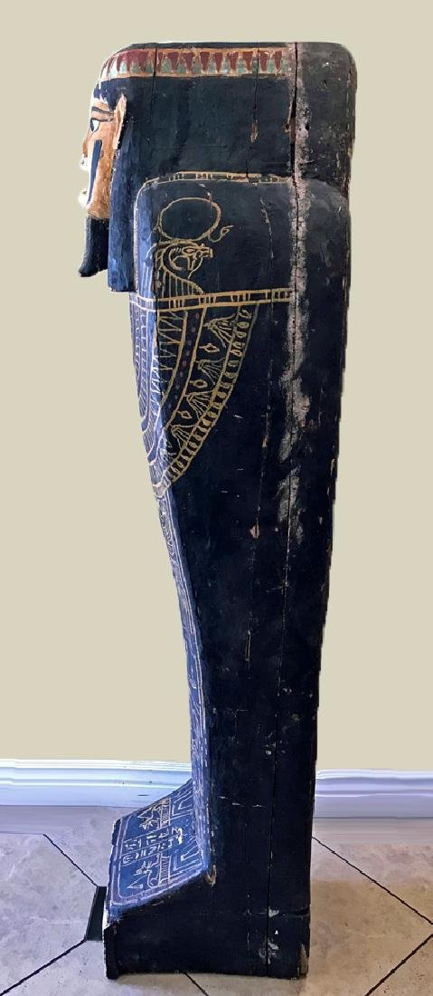 Egyptian Late / Ptolemaic Painted Wood Sarcophagus - 5