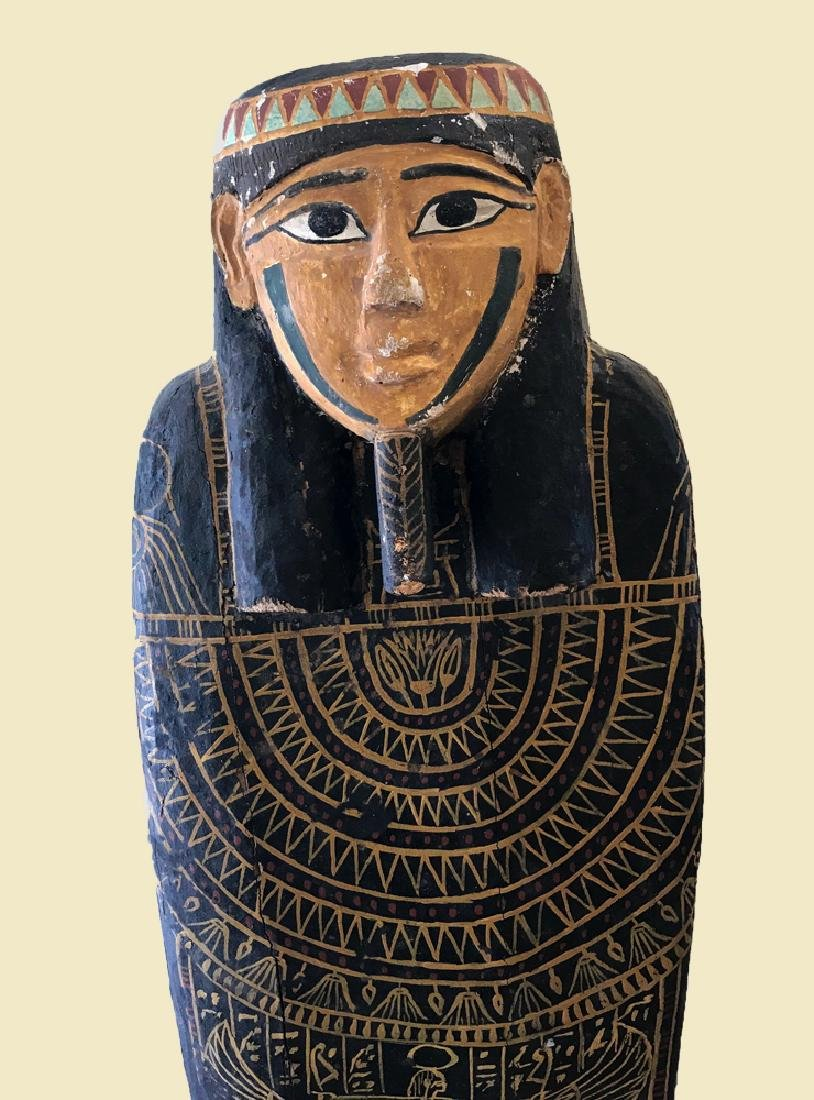 Egyptian Late / Ptolemaic Painted Wood Sarcophagus - 6