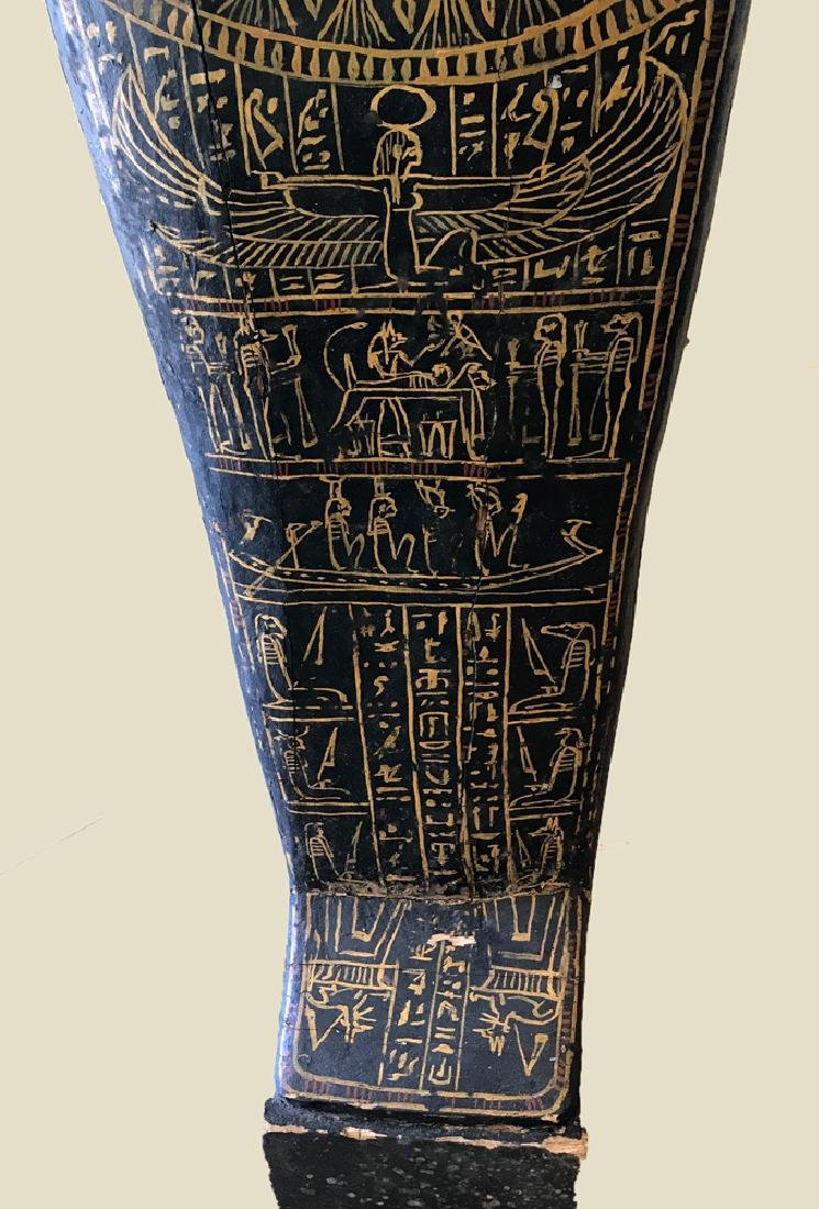 Egyptian Late / Ptolemaic Painted Wood Sarcophagus - 7