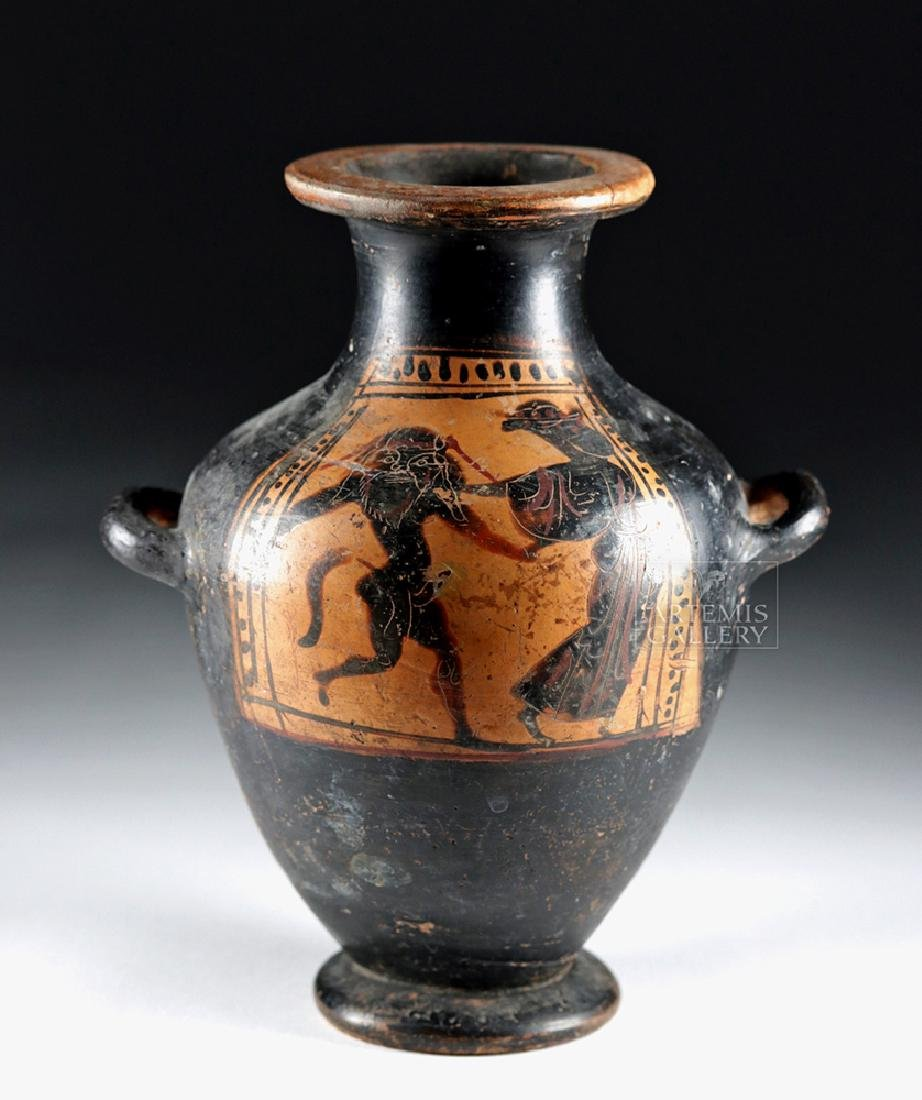 Greek Attic Black-Figure Kalpis - Satyr & Maenad