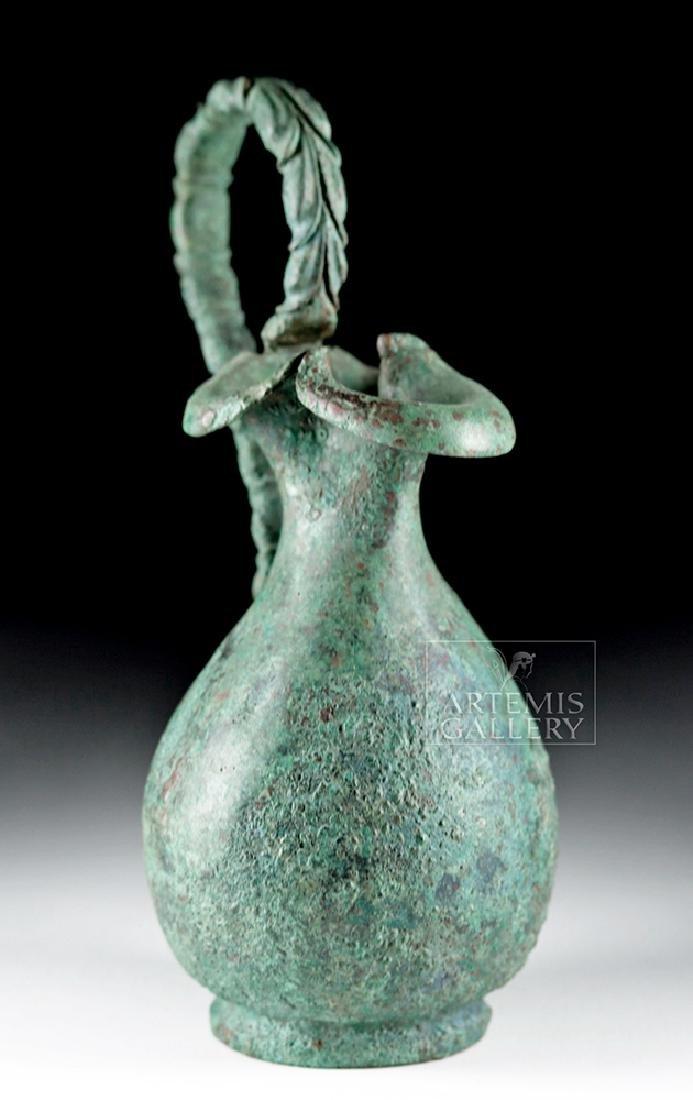 Superb Roman 1st Century Bronze Trefoil Oinochoe - 2
