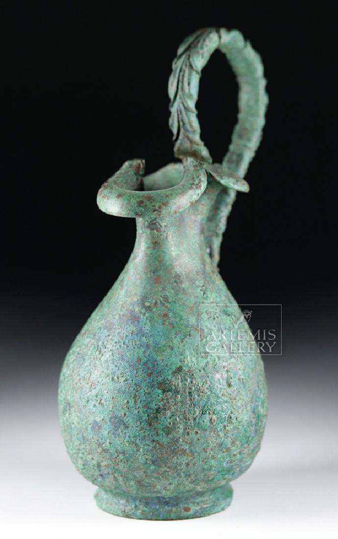 Superb Roman 1st Century Bronze Trefoil Oinochoe - 3