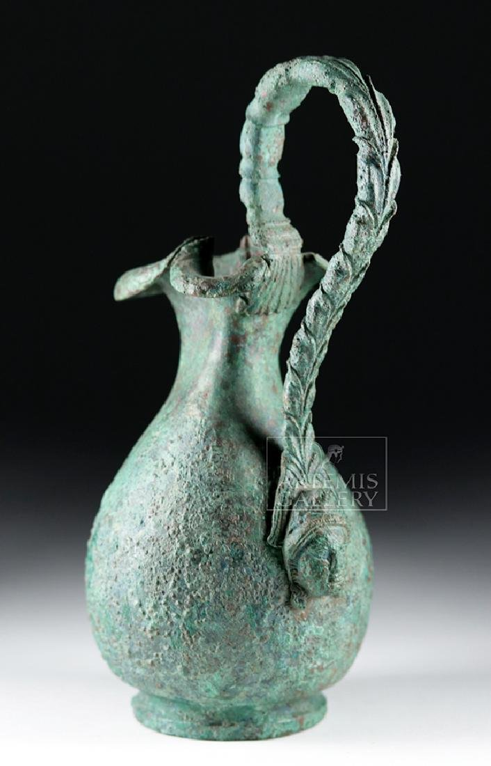 Superb Roman 1st Century Bronze Trefoil Oinochoe - 4