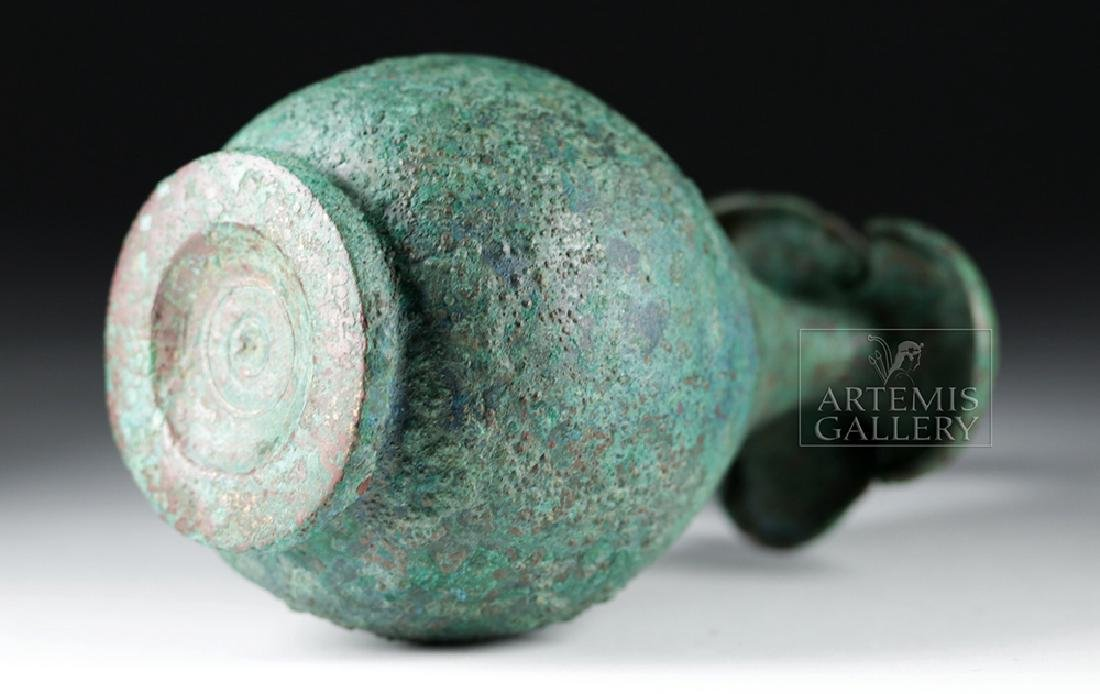 Superb Roman 1st Century Bronze Trefoil Oinochoe - 7