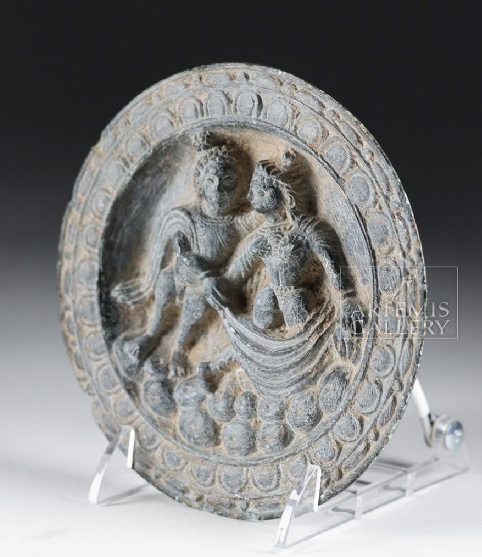 Fine Gandharan Grey Schist Stone Palette - 2