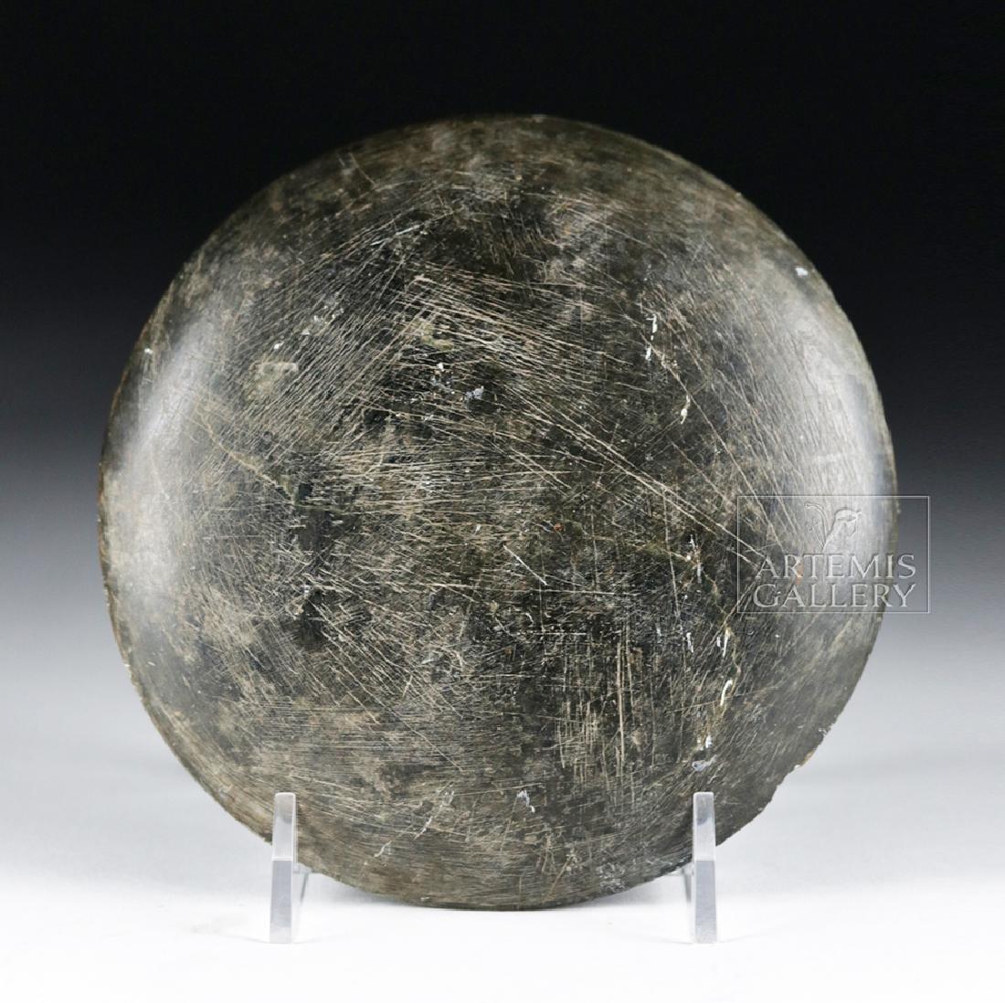 Fine Gandharan Grey Schist Stone Palette - 3