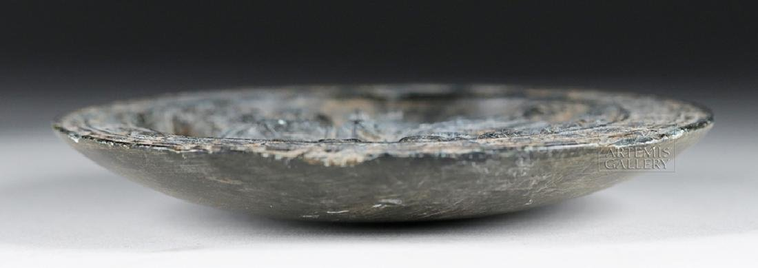 Fine Gandharan Grey Schist Stone Palette - 4