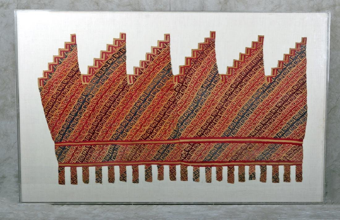 Grand Pre-Columbian Chimu Textile (Mounted/Framed)